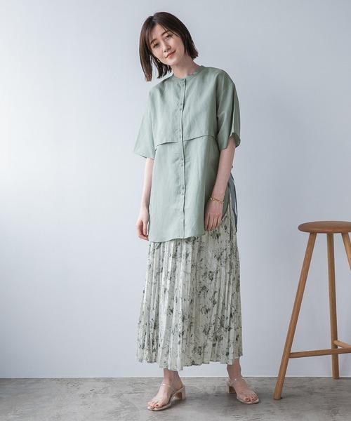 [apart by lowrys] TeLiサイドスリットシャツ半袖