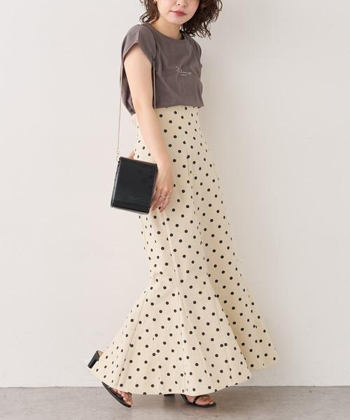 [natural couture] 【WEB限定】ハイウエストマーメイドスカートSサイズ