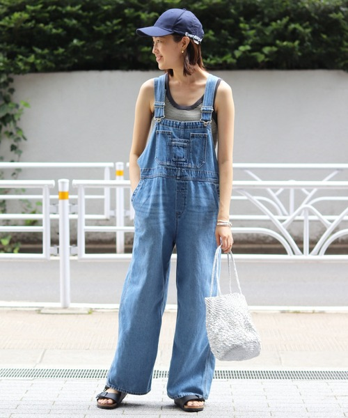 [IENA] LE DENIM ルーズオーバーオール【洗濯機使用可能】