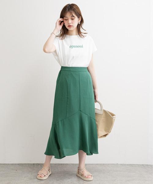 natural couture] 【WEB限定】ハギデザインマーメイドスカート