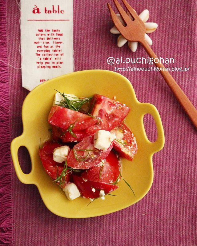 簡単調理!トマトとクリームチーズのサラダ