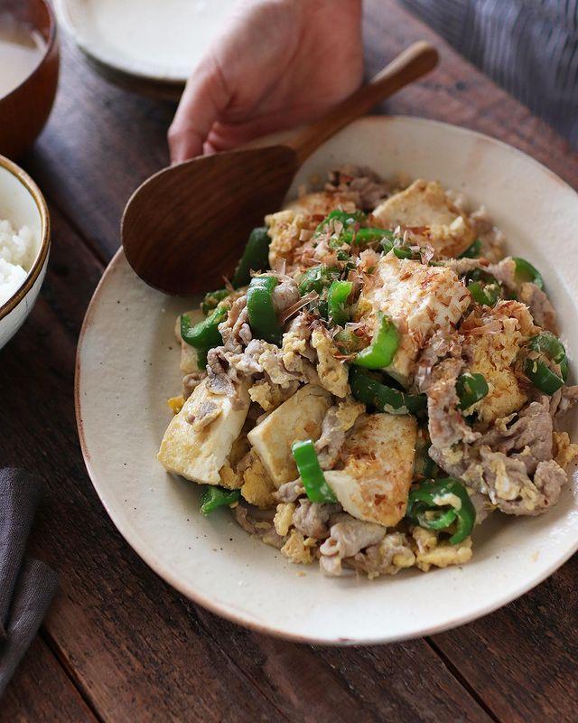 簡単!木綿豆腐のピーマンチャンプルーレシピ