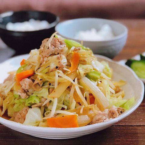 残り野菜でもOK!豚肉野菜炒めレシピ