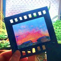 写真が透けてる!?100均ラミネートでフィルム風透明写真が作れた!