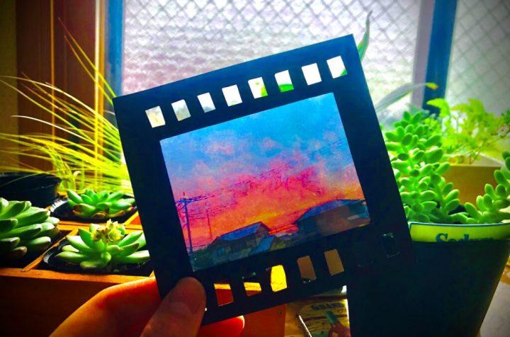 ラミネートでフィルム風透明写真