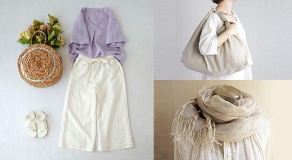 リネンの魅力あふれる夏のファッションアイテム