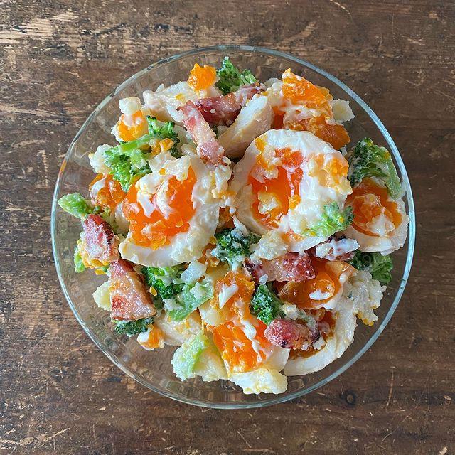 満腹♪卵とベーコンのポテトサラダレシピ