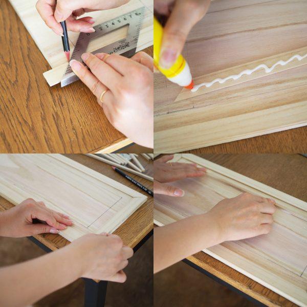 ③扉の木板を装飾する3