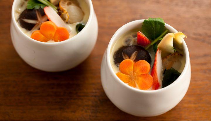 スチーマーを使った基本のレシピ 海鮮茶碗蒸し