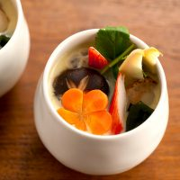 【スチーマーのレシピ】スチーマーを使った基本のレシピ 海鮮茶碗蒸し