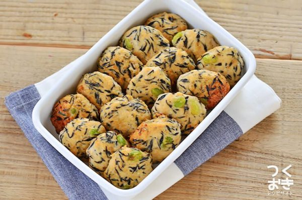 彩りかわいい♡枝豆ひじきの鶏団子レシピ