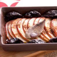 【オーブントースターのレシピ】りんごとプルーンのハニー焼き