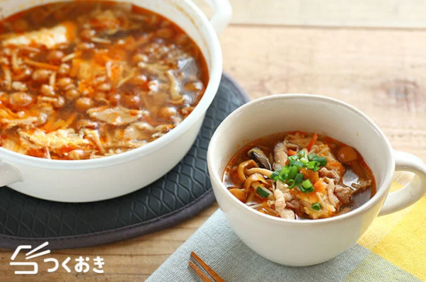 白いご飯が恋しい!人気の酸辣湯風きのこスープ