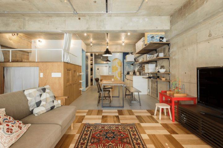 空間を活かすロフトと、玄関からバルコニーまで抜けた設計で広さを演出