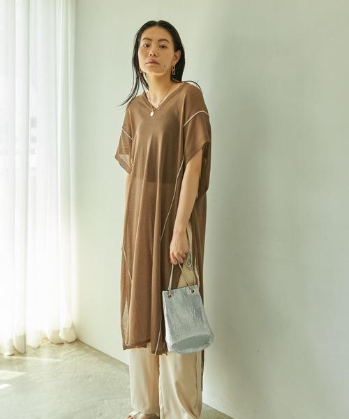 [Auntie Rosa] スネークチェーンメタルバッグ