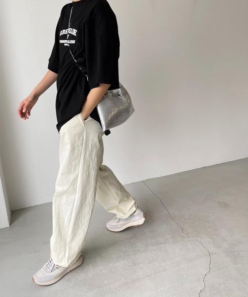 [CANAL JEAN] via j(ヴィアジェイ) NEWメタル巾着バッグ