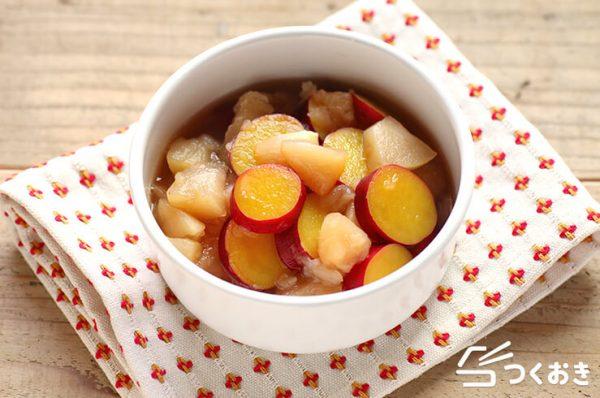 食感◎料理。りんごとさつまいもの甘煮レシピ