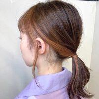 インナーカラー×ポニーテール特集。カラーを活かしてトレンドを押さえたおしゃれヘア