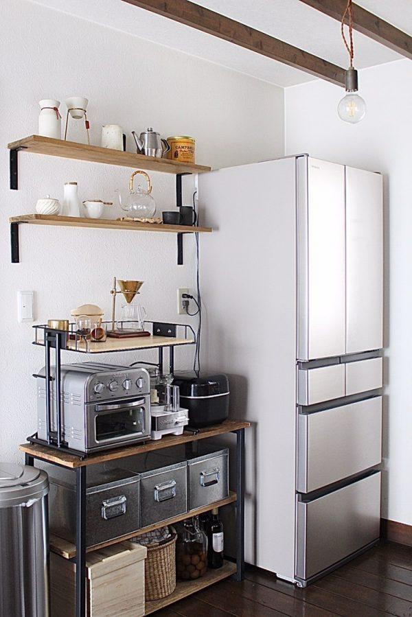 マット感のあるおしゃれな冷蔵庫