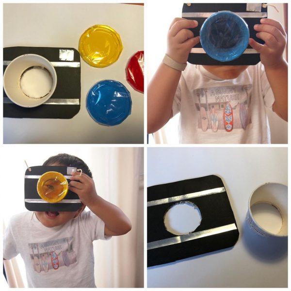 子供のなりきり遊びを盛り上げる手作りカメラ
