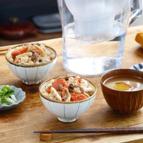 生姜香る♪鮭ときのこの炊き込みご飯レシピ
