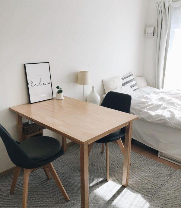 二人暮らしの狭い部屋のレイアウト5