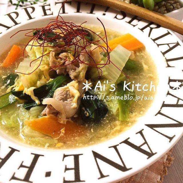 便利おかず♪豚肉と野菜の中華スープ煮レシピ