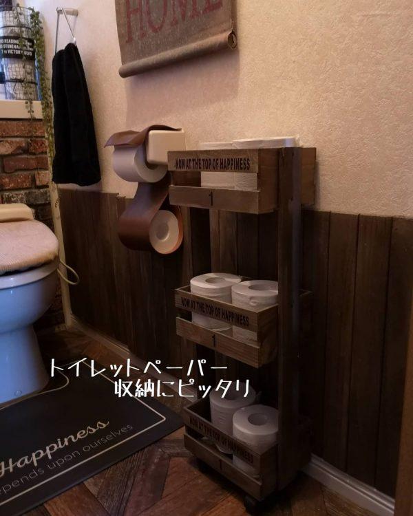 男前でかっこいいトイレ収納DIY術