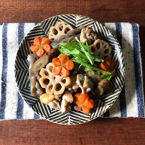 秋の旬野菜をレンジで調理♪簡単筑前煮レシピ