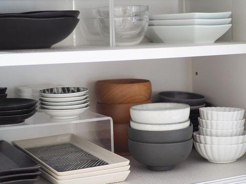 食器棚をより便利に使える無印良品収納