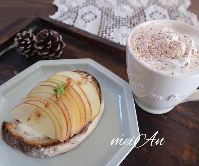 簡単美味しい主食レシピ!りんごトースト