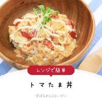 【レシピ動画】レンジで簡単「トマたま丼」