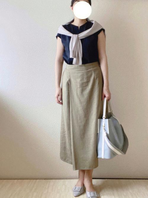 ユニクロリネンナロースカート