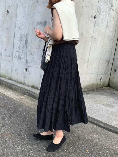 ユニクロギャザーロングスカート