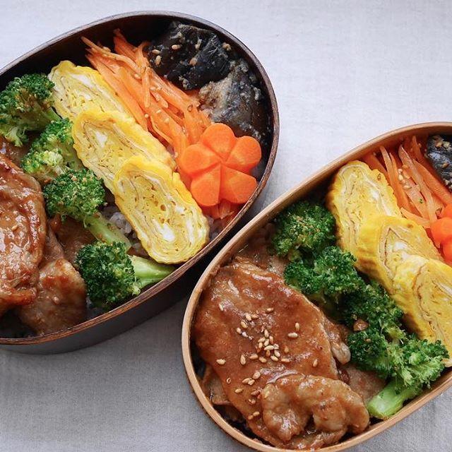 生姜焼き弁当の詰め方レシピ4