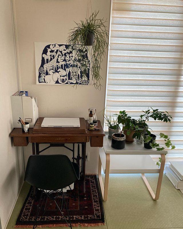 和室×観葉植物のインテリア実例4