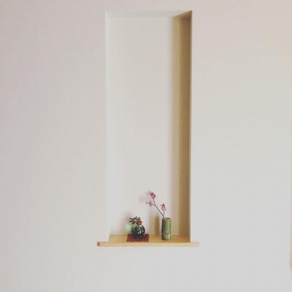 ちょこんと配置が可愛い飾り棚レイアウト
