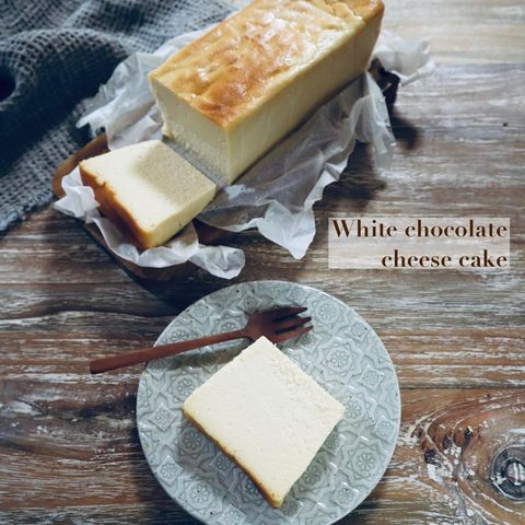 豪華なおやつ!ホワイトチョコチーズケーキ