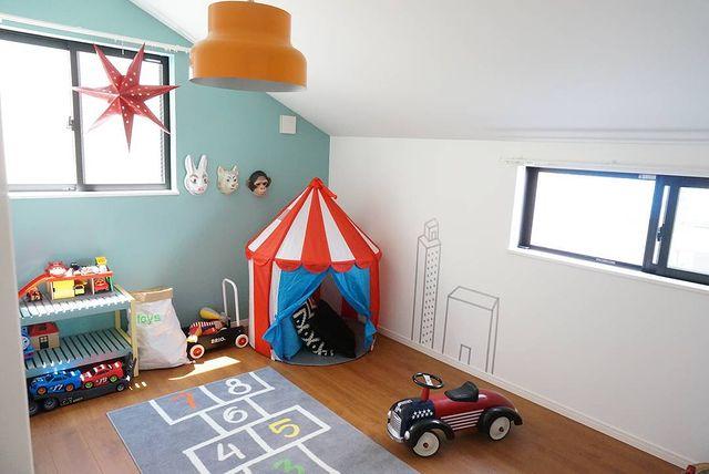 子供を人気者にする東向きの子供部屋
