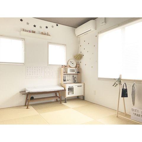 アルファベットオブジェのある和室の飾り棚