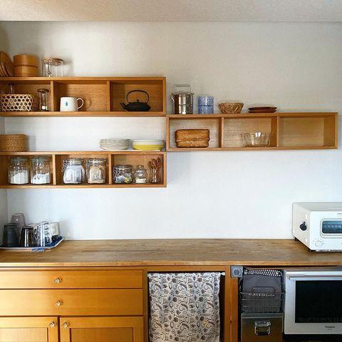 無印のキッチン背面収納8