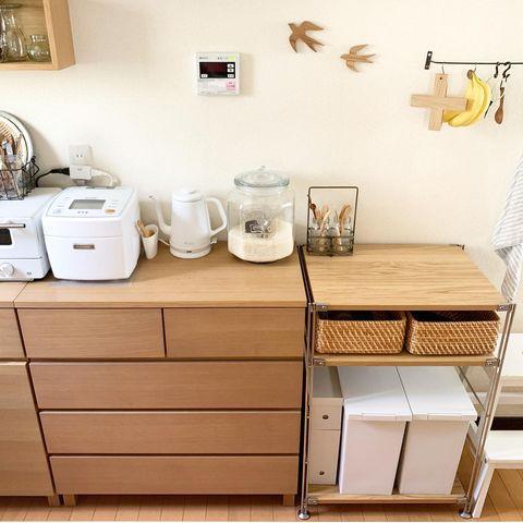 無印のキッチン背面収納4