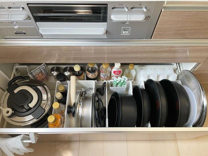 キッチンの引き出しを掃除