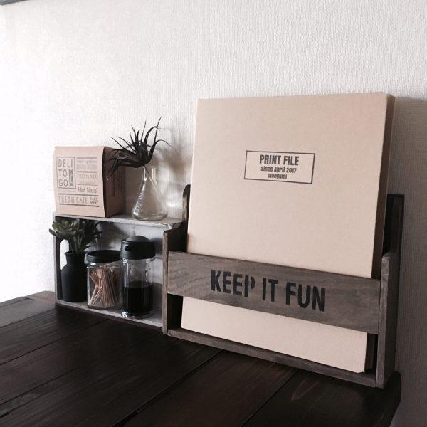 カフェ風インテリアに合う書類収納DIY