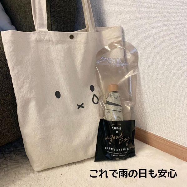 折り畳み傘を使うときに便利なジップバッグ