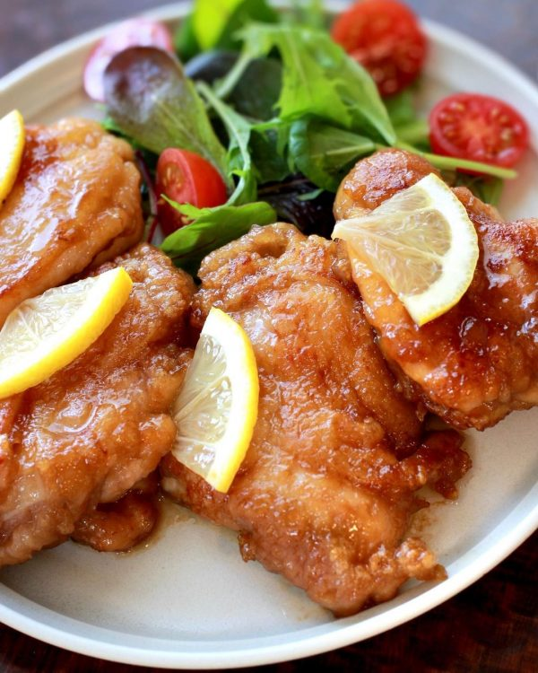 鶏もも肉のレモンバターソース焼き5