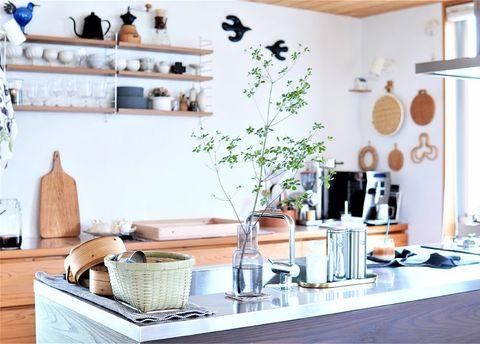 人気の雑貨が映える北欧キッチンインテリア