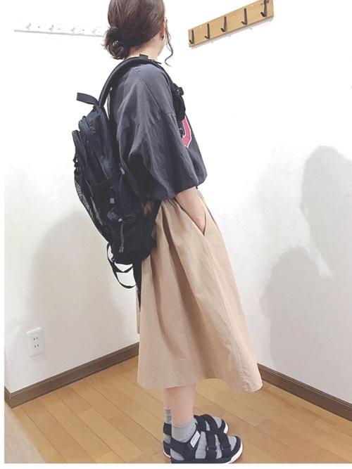 GUスカート×グレースウェットの春コーデ