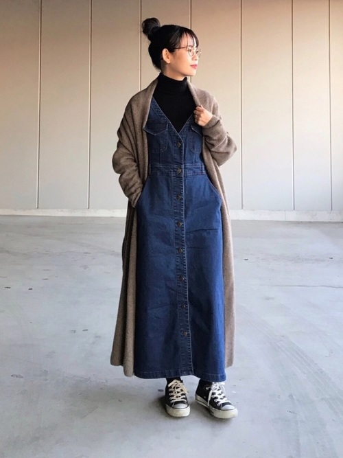 ボタンジャンパースカート