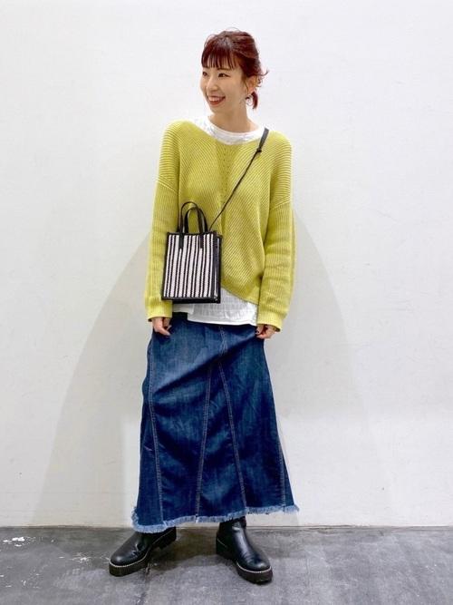 リメイク風デニムスカート
